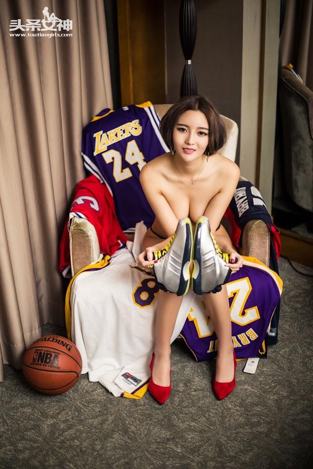 Sexy Chinese Girl: Big Tits Nude Basketball Girl: Goddess No.008 Model 文雪