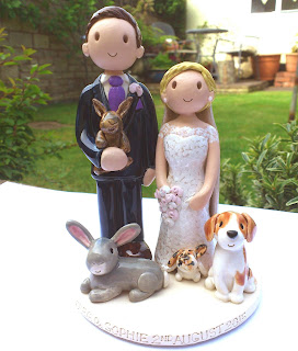 Cute Pet Wedding Cake Toppers
