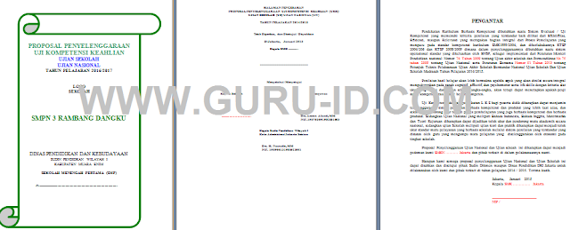 gambar Contoh Proposal Ulangan Kenaikan Kelas (UKK), Ujian Nasional dan Sekolah SMP
