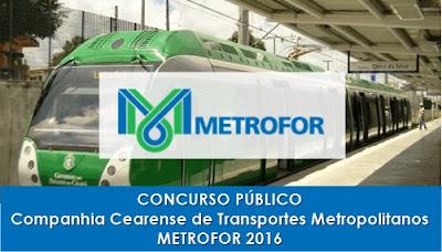 Apostila Concurso Metrofor CE 2016