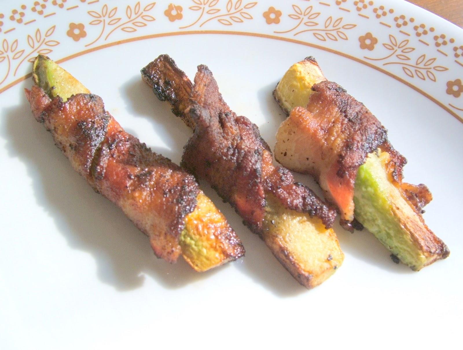 Bacon Wrapped Zucchini Strips