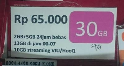 Pembagian Kuota 30 Gb simpati telkomsel