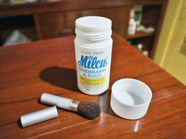 Milcu underarm and foot deodorant powder