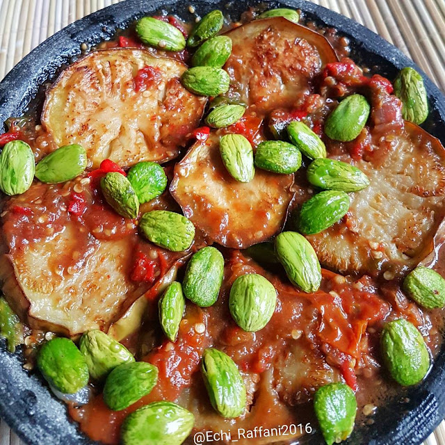 sambal pete , resep sunda, resep indonesia , resep terong