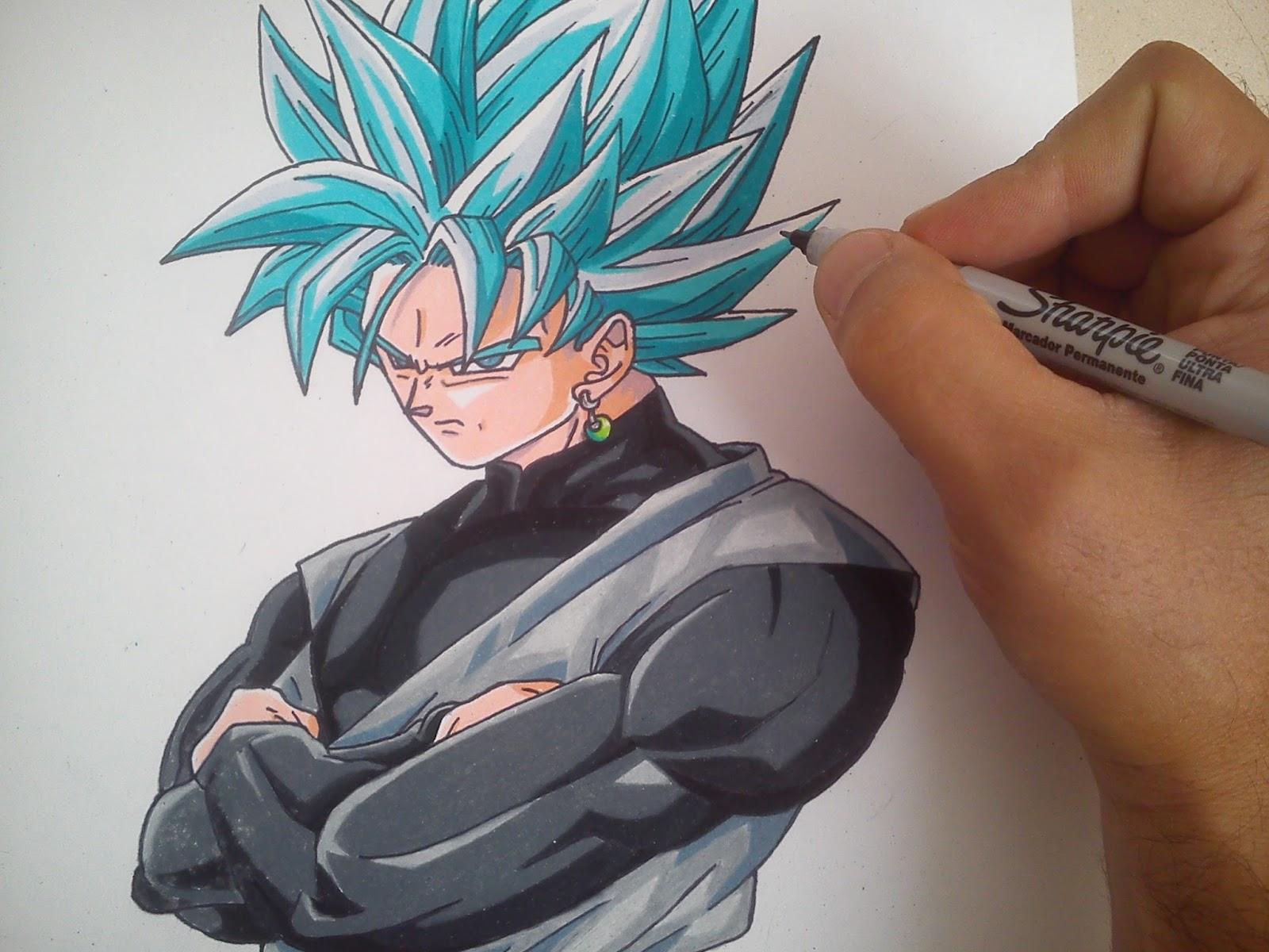 Dibujos De Dragon Ball Y Naruto Goku Black Ssj Dios Azul