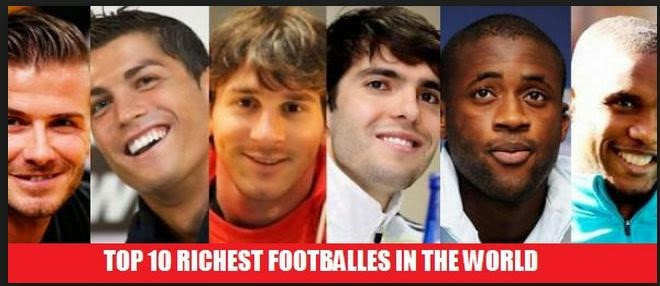 Top 10 richest football players in World Cup 2014