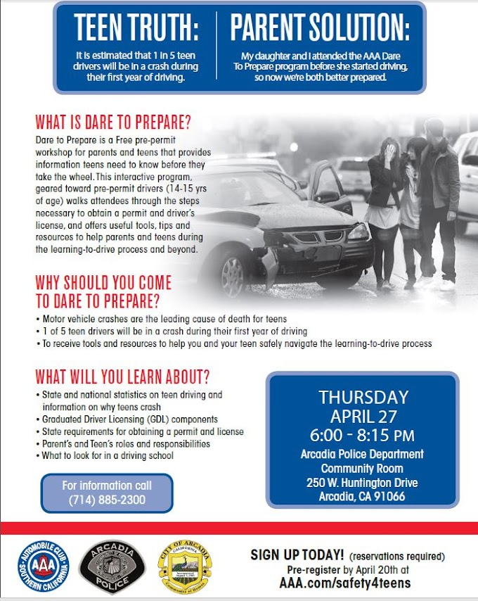 Dare to Prepare - AAA Pre-Permit Teen Driver Safety Workshop