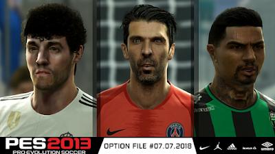 PES 2013 Next Season Patch 2019 Option File 07/07/2018 Season 2018/2019