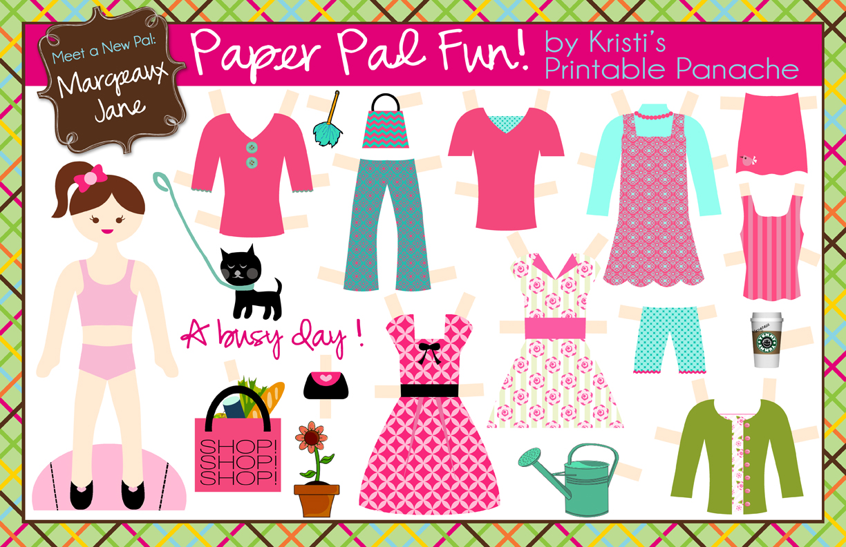 I Should Be Mopping The Floor Free Paperdoll Printables