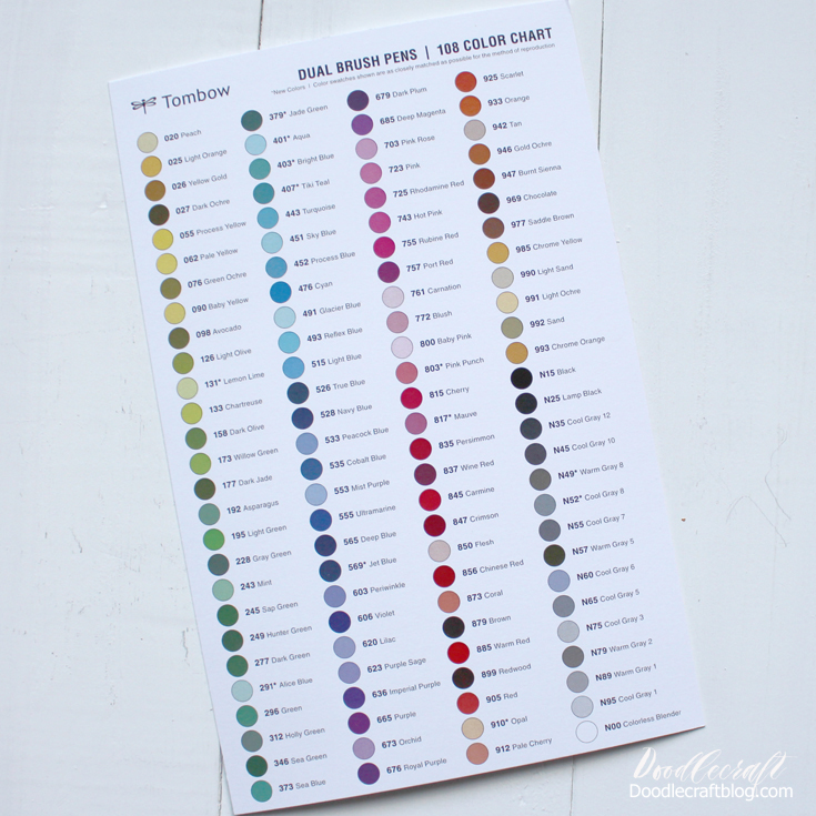Doodlecraft Tombow Dual Brush Pens 12 New Colors In November Vip Box