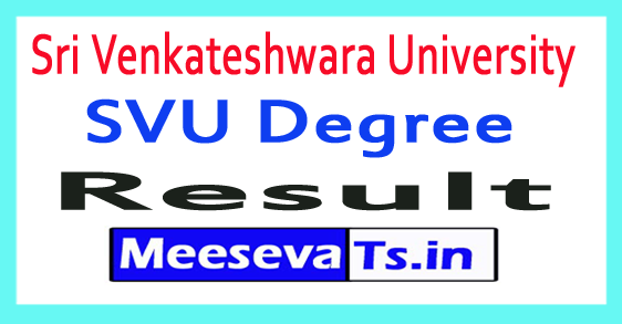 Sri Venkateshwara University Degree Results 2017