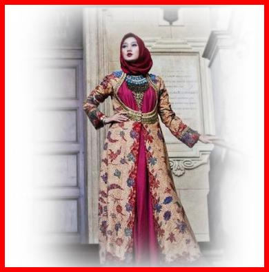 Baju Batik Dian Pelangi 2018 Contoh Baju Busana Muslim Terbaru