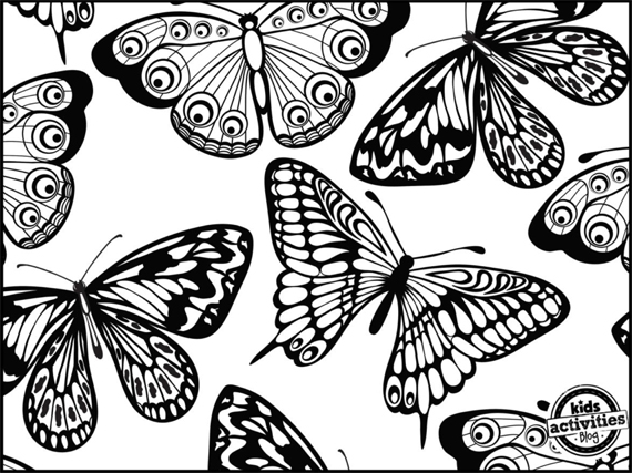 Dibujos Varios Para Colorear: Dibujos De Mariposas Descargables Para Colorear