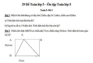 Bài tập toán lớp 5 có đáp án - Toans nâng cao Lớp 5, Tải miễn phí