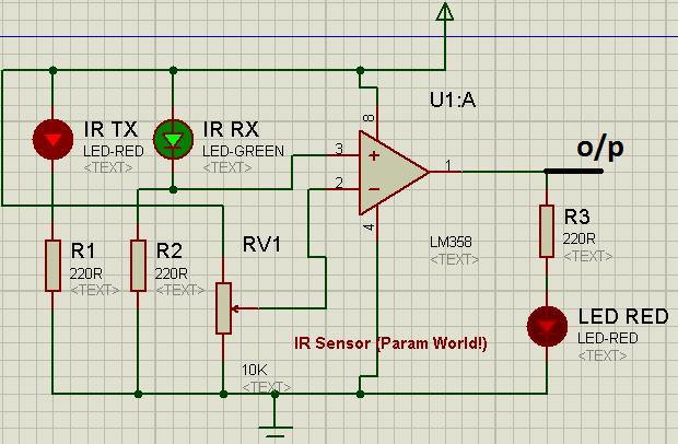 IR Sensor Circuit Using LM358