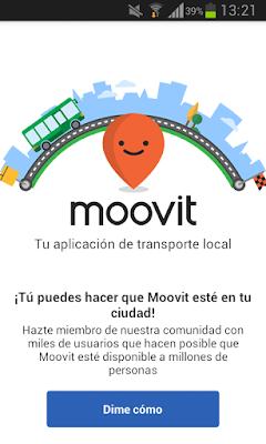 Captura pantalla para unirse a la comunidad Moovit