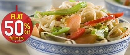 Flat 50% OFF on Full Menu on Yo! China (Valid for Bangalore & Delhi / NCR Only)
