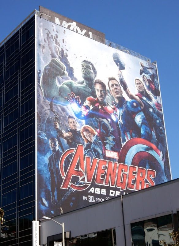 Avengers Age of Ultron film billboard
