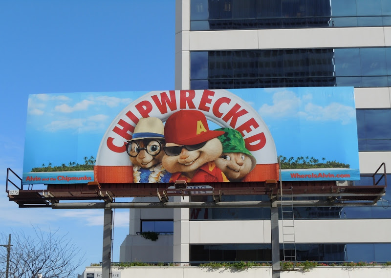 Chipwrecked movie billboard
