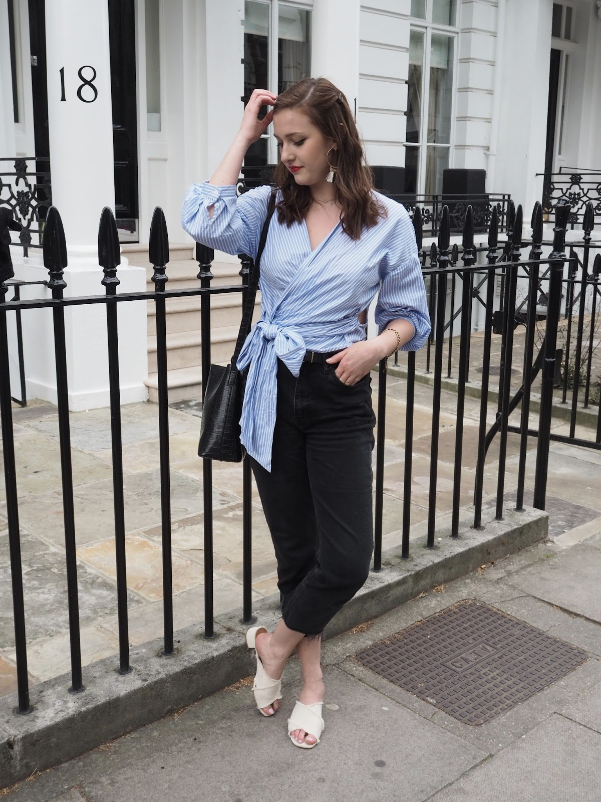The Zara Wrap Top / Lauren Rose Style Blog Fashion London // Street Style OOTD