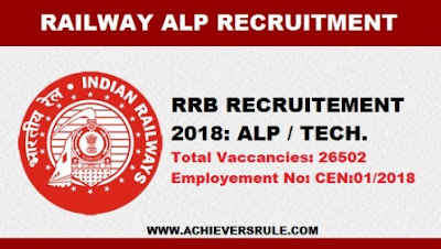 Railway Vaccancies 2018: ALP & Technicians - 26502 Posts