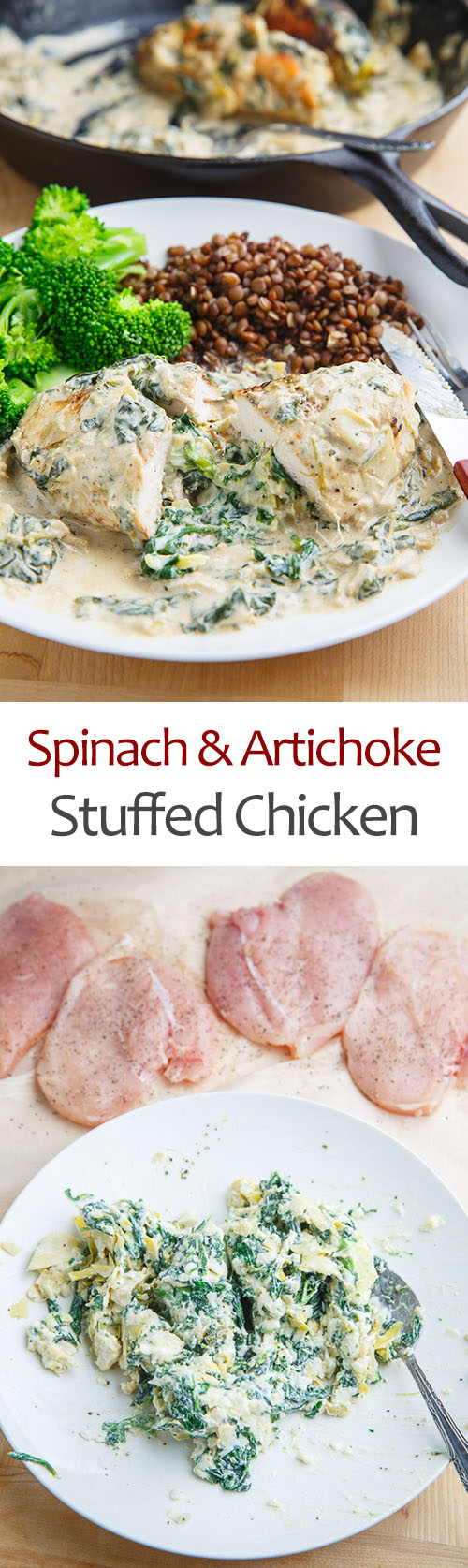 Spinach and Artichoke Stuffed Chicken