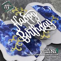 Stampin' Up! Stitched Season Birthday U Fold / Bridge Fold Card Idea. Order craft products from Mitosu Crafts UK Online Shop