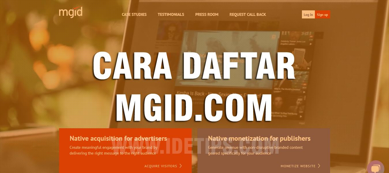 TUTORIAL CARA DAFTAR MGID.COM