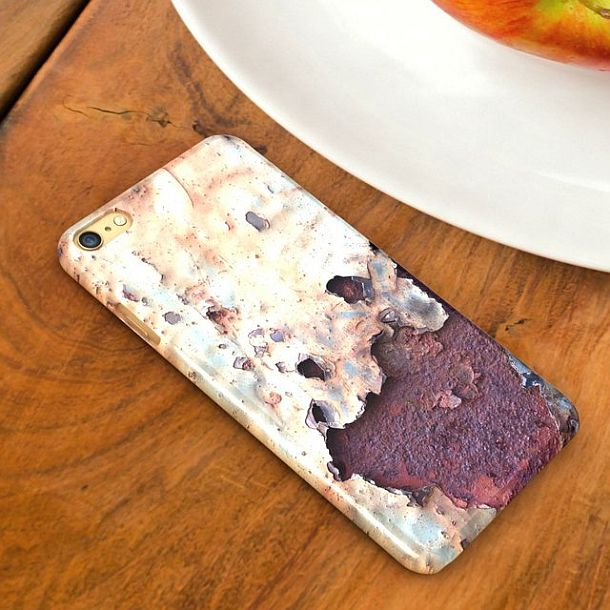 Unique Smartphone Case with Imitation Of Rust, rusty phone cover ABS