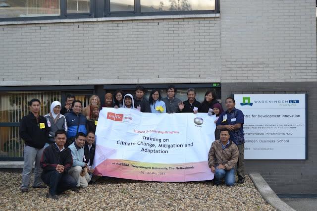 Peserta Training Climate Change di Wageningen Belanda