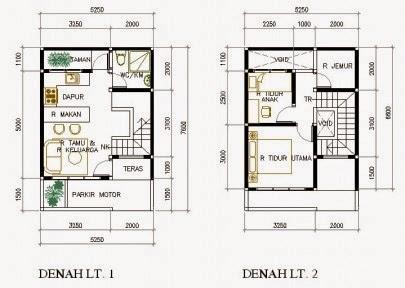 denah rumah minimalis 5 x 9.5 meter 2 lantai - welcome