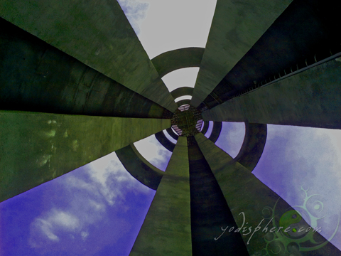 Inside the Obelisk - Capas National Shrine in Tarlac