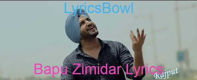 Bapu Zimidar Lyrics - Jassi Gill | LyricsBowl
