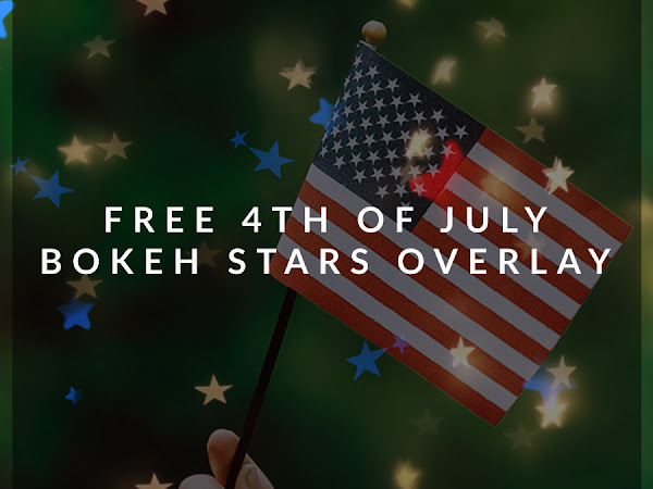 4th of July Bokeh Stars Photoshop Overlay Freebie and Tutorial