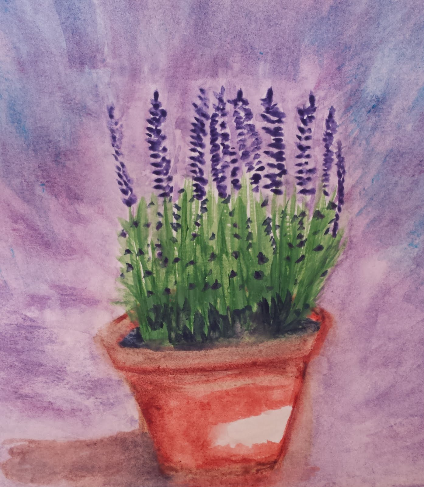 "Watercolor Painting ""Lavender"""