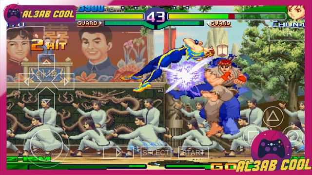 تنزيل لعبة قتال الشوارع Street Fighter Zero 3 psp  للاندرويد ppsspp