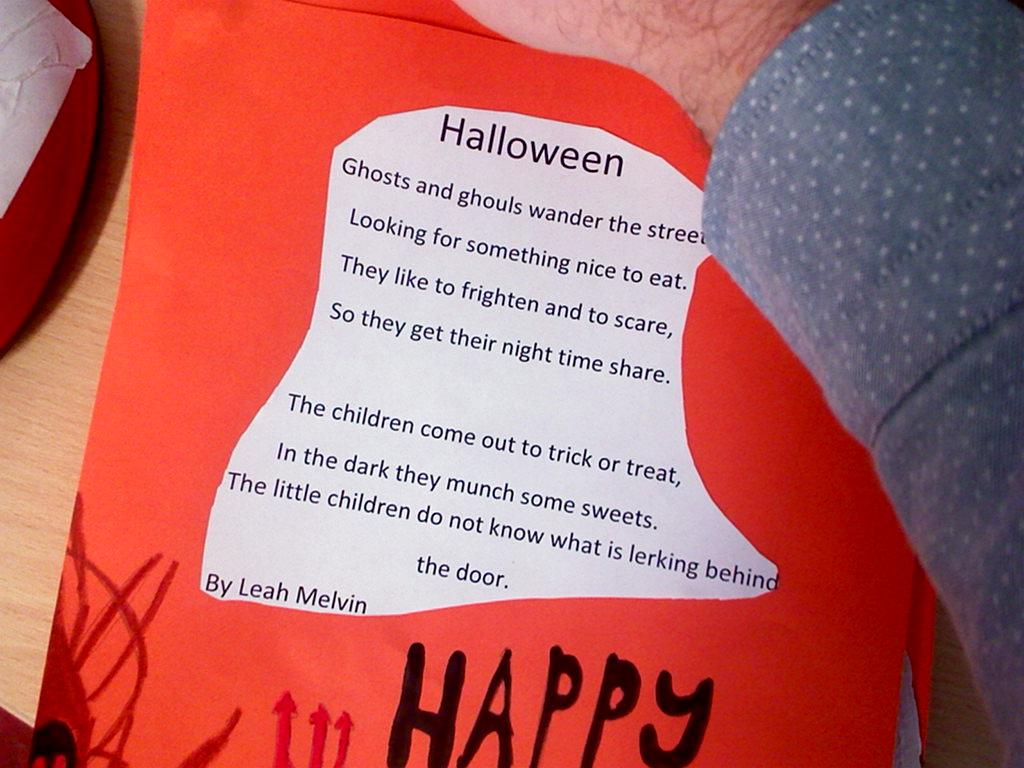newcastle ns, athenry: halloween poems