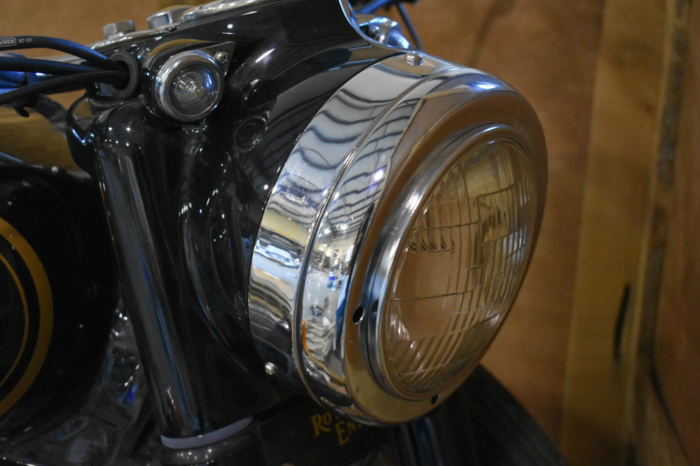 Motorcycle headlight.