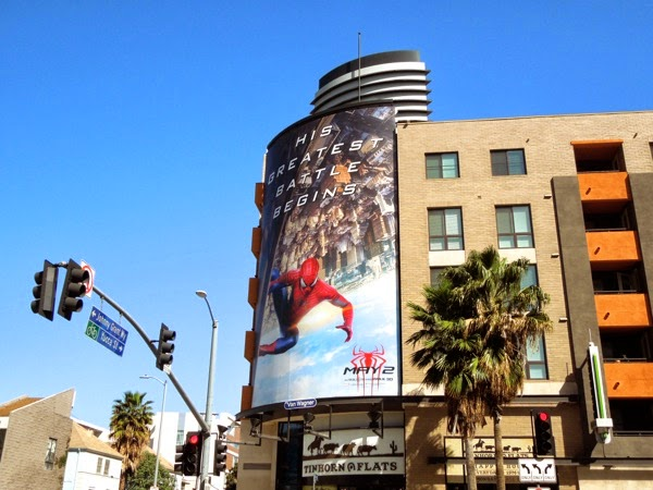 Amazing Spiderman 2 movie billboard