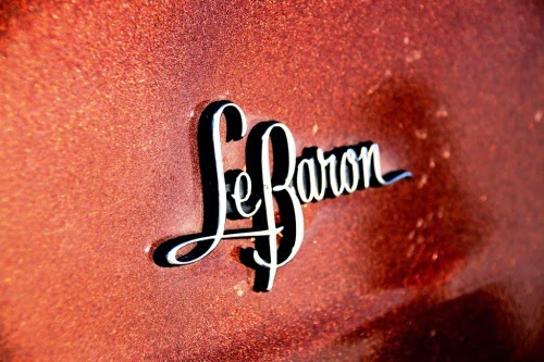 Chrysler LeBaron metal logo