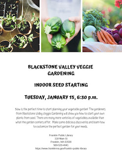 Franklin Library: Indoor Seed Starting - Jan 15