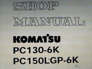 PC130-6K PC150LGP-6K  shop manul