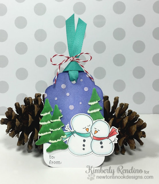 25 Days of Christmas Tags | Newton's Nook | kimpletekreativity.blogspot.com | snowman