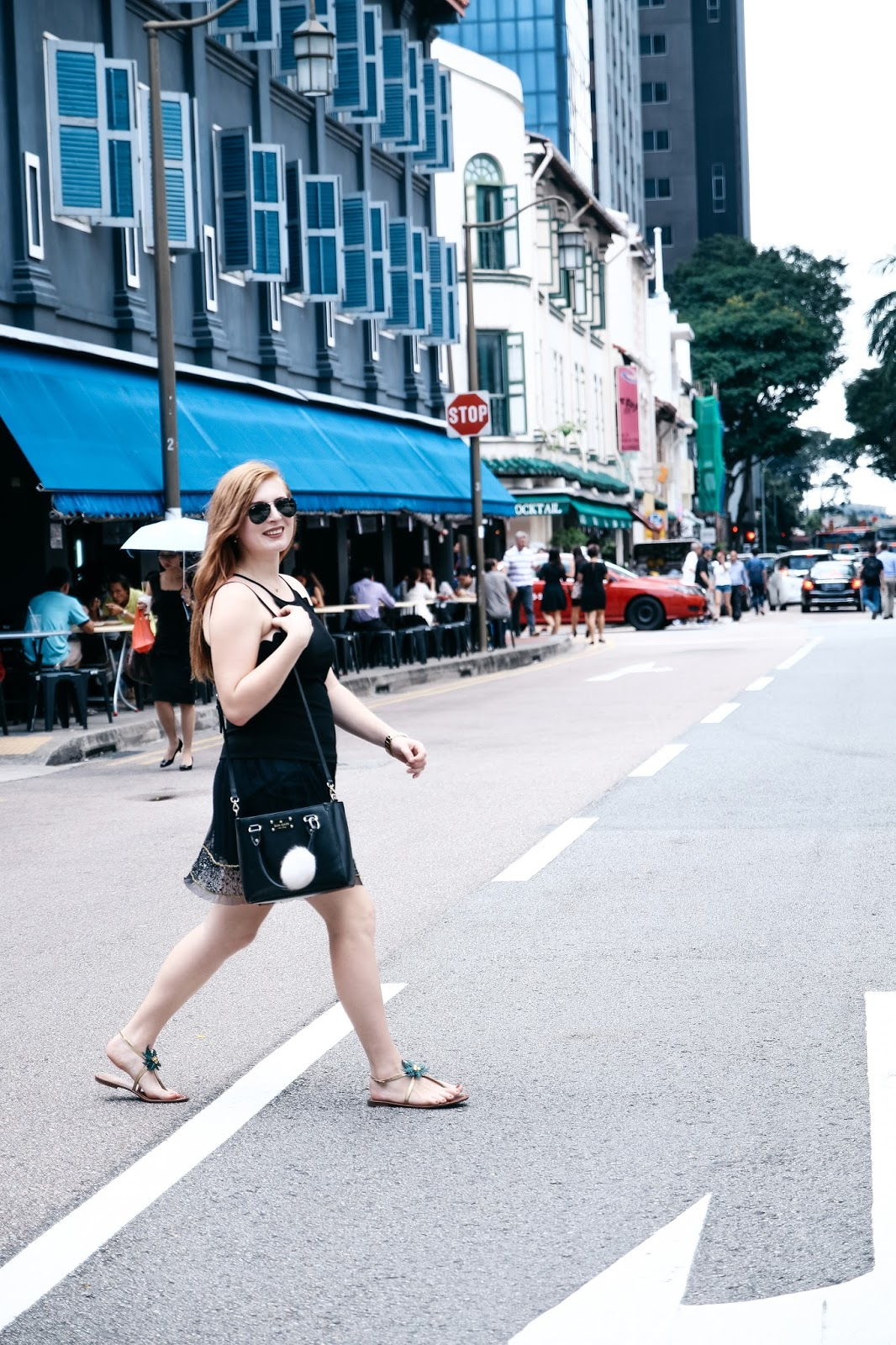 Kate Spade Solana Palm Tree Sandals // Expat Fashion in Singapore