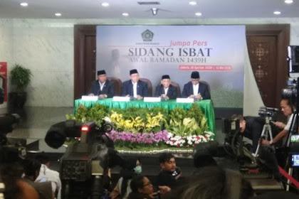 Sidang Isbat Penetapan Awal Ramadhan 1440H Digelar Minggu Depan