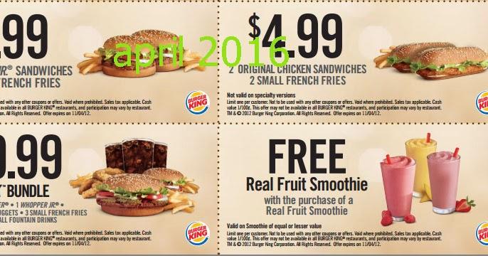 Burger king online coupons india