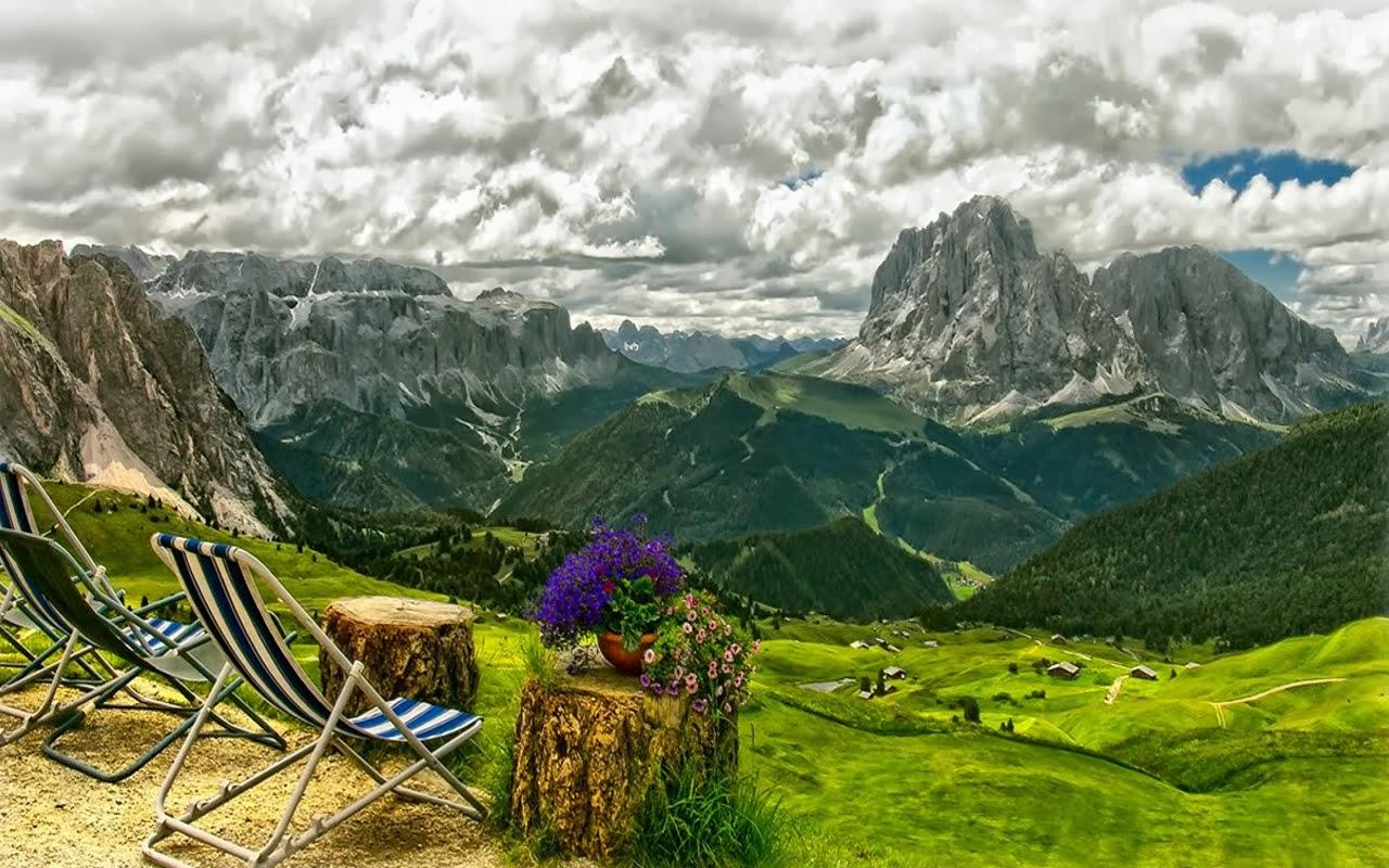 landscape mountain beautiful wallpaper - photo #1