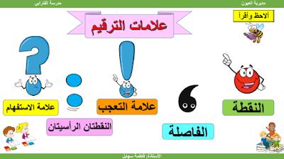 شرح علامات الترقيم