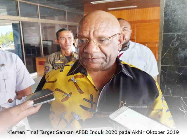 Klemen Tinal Target Sahkan APBD Induk 2020 pada Akhir Oktober 2019