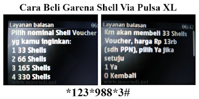 cara beli cash via pulsa xl